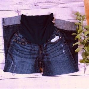 indigo blue jeans short size medium